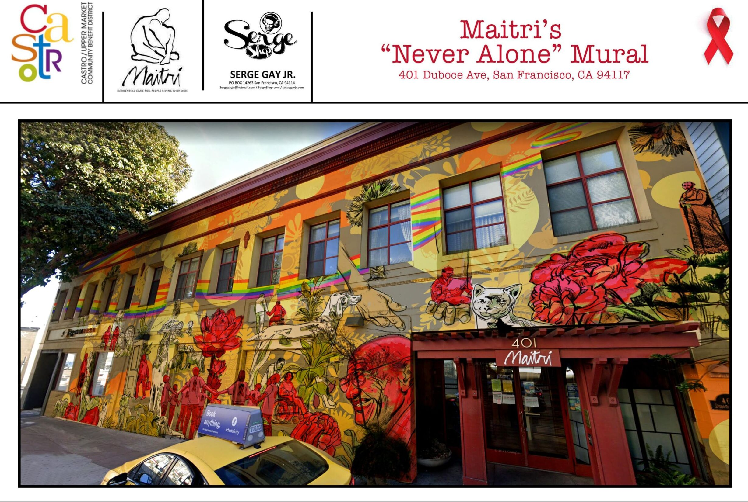 Maitri's Never Alone Mural by Serge Gay, Jr.